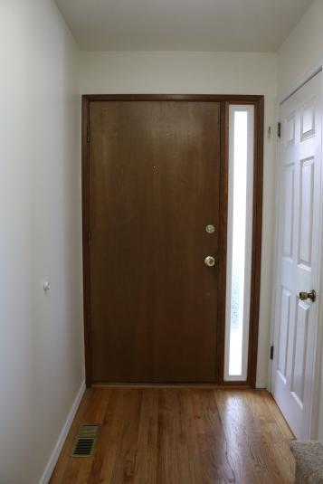 View of front door from inside